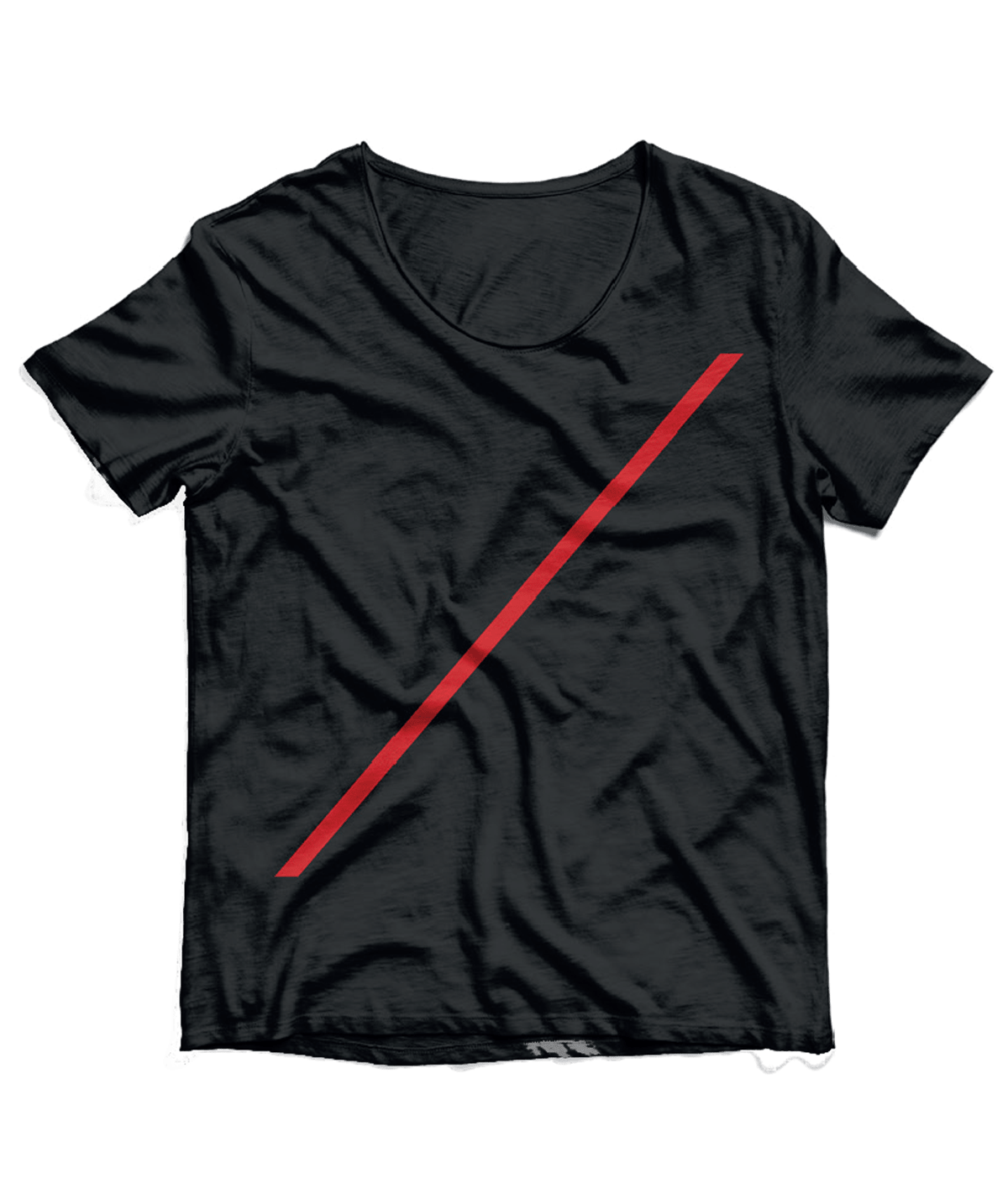 T-Shirt  Black with red stripe